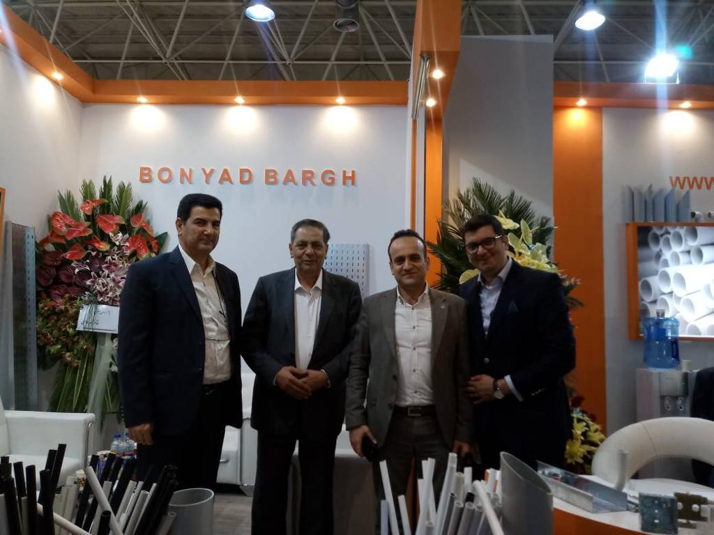 تشکر از مهندس فرشچی و مهندس عمرانی بابت افتخار حضور و بازدید از غرفه گروه تولیدی بنیاد برق